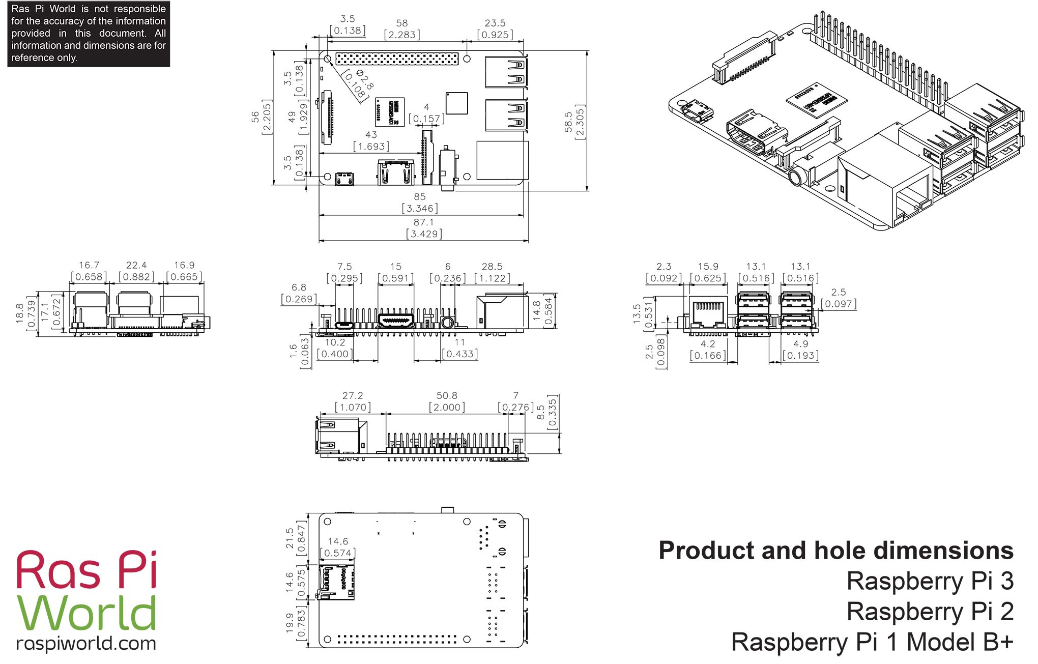 All Raspberry Pi Products Dimension Drawings Ras World Drawing A Diagram